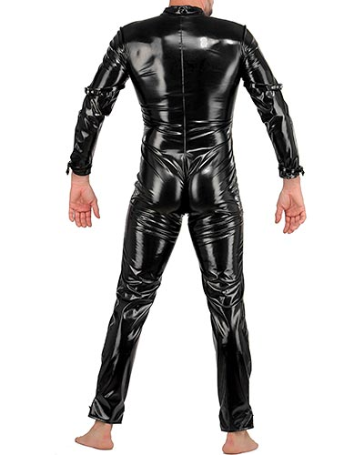 Gloss PVC Body Suit with Front Zipper