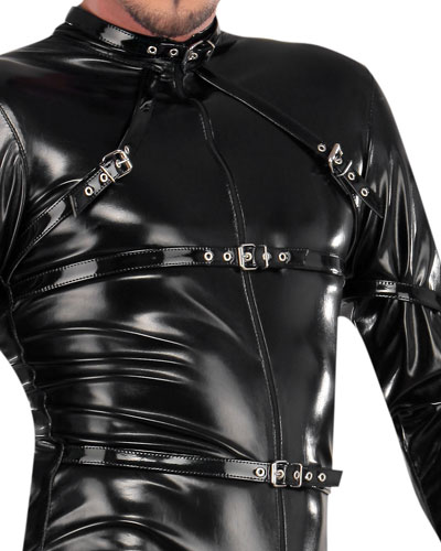 Gloss PVC Body Suit with 2-Way Zipper Thru Crotch