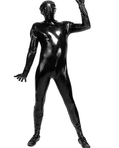 Back zipped Latex Body Suit - Optional with Breast and Mouth Zip