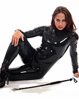 Latex Catsuit with 3-Way Front Zipper - Also with Breast Zips