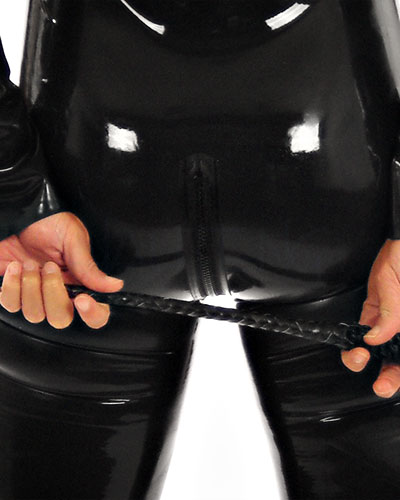 Rubber Catsuit with 3-Way Frot Zipper - Also with Breast Zips