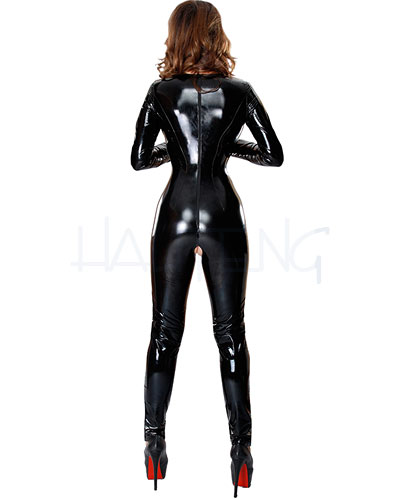 Gloss PVC Catsuit with Open Boobs and Open Crotch