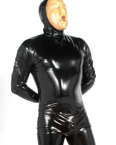 Latex Catsuit with Feet and 3 Way Zipper