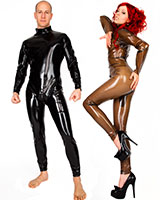 Latex Catsuit with 2-Way Zipper - Unisex