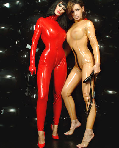 Glued Latex Catsuit with Back Zipper Through Crotch