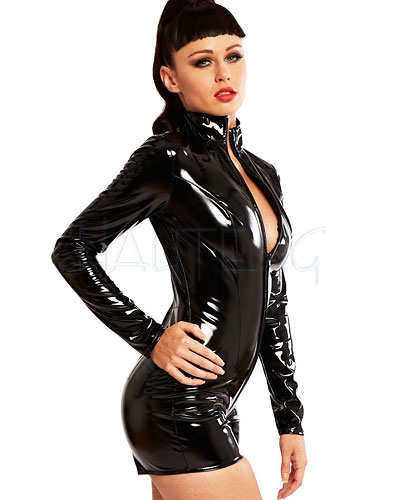 Black Gloss PVC Pleasure Playsuit