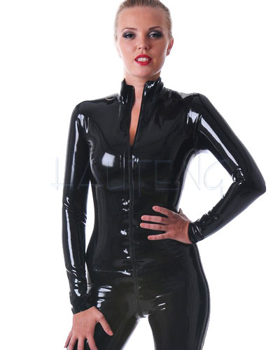 Classic Glued Latex Catsuit with 2 Way Zipper - up to Size 4XL