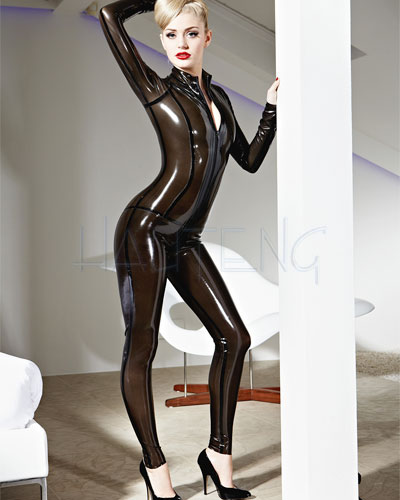 Glued Latex Vertigo Catsuit