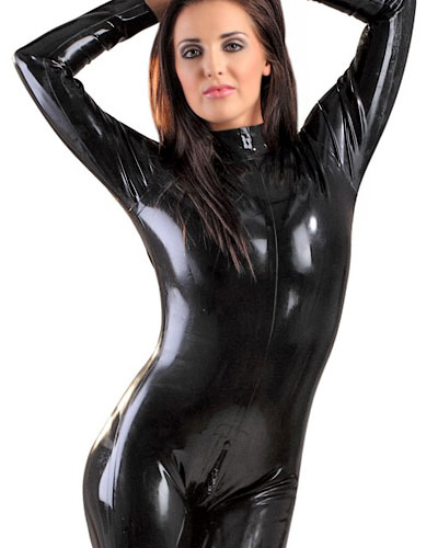 Glued Latex Catsuit with 2Way Back Zipper