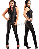 Black Stretch Elegance Catsuit
