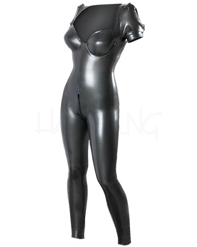 Glued Latex Catsuit with Puffy Sleeves