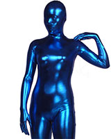 Blue Shiny Metallic Zenshin Tights Suit with Options
