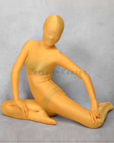 Yellow Shiny Zenshin Tights Suit