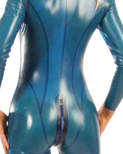 Semitransparent Glued Latex Catsuit - Made to Measure Available
