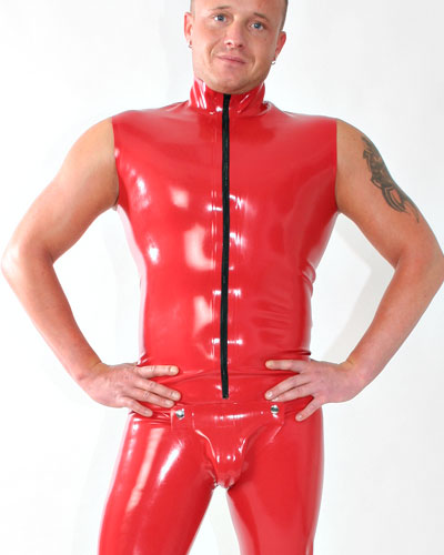 Glued Latex Sleeveless Suit with Codpiece and Various Options
