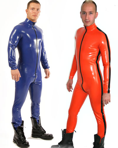 Classic Men\'s Glued Latex Fullsuit with Various Options