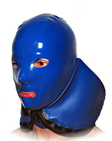 Latex Hood with Closable Front Flap with Various Options