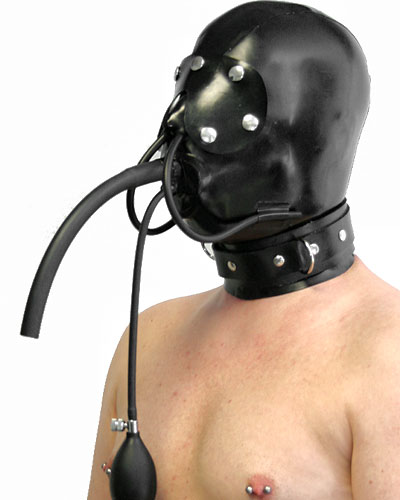 Thick Latex Slave Hood with Collar and Various Options