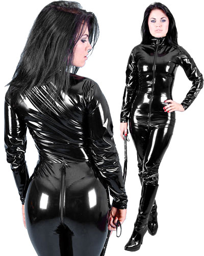 PVC Catsuit with 2 Way Zip