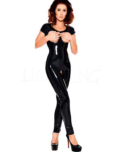 Datex Catsuit with Open Bust and Open Crotch