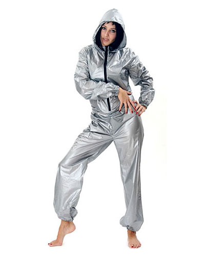 PVC Body Hugging Overall with Hood