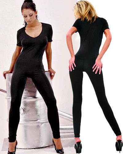 Short Sleeved Stretch Catsuit