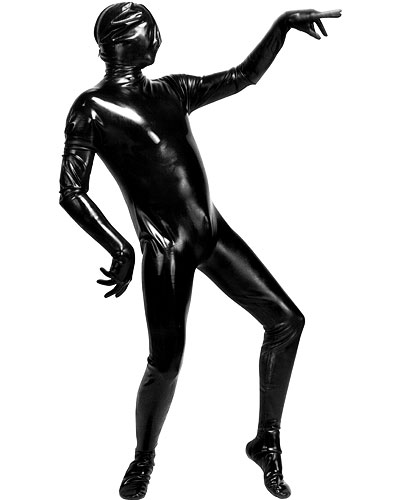 Latex Body Suit with 3 Way Zip and Optional Zippers