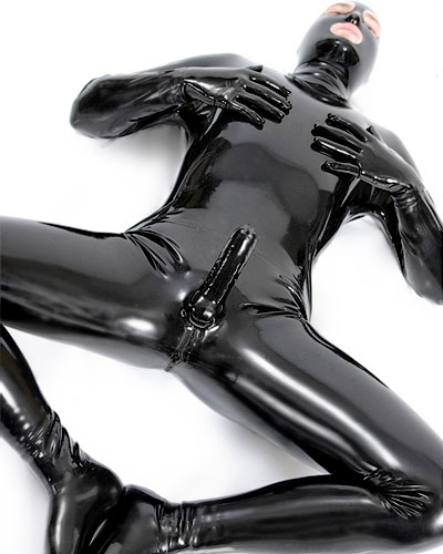 Glued Latex Total Suit with Sheath