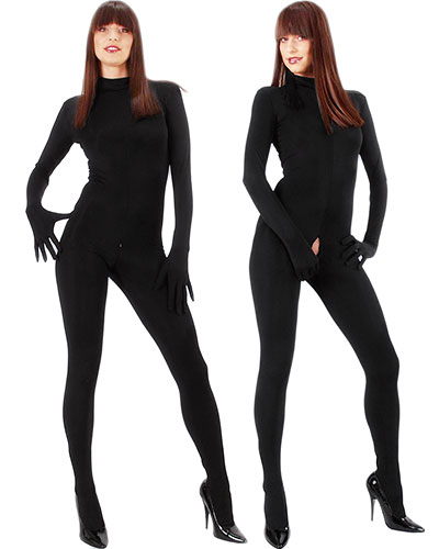 Catsuit with Gloves, Feet and Crotch Zipper