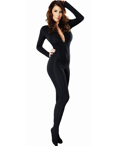 Stretch Catsuit with Feet