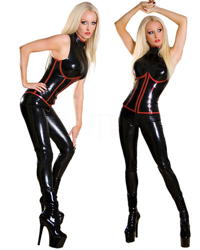 Glued Latex Subordination Catsuit
