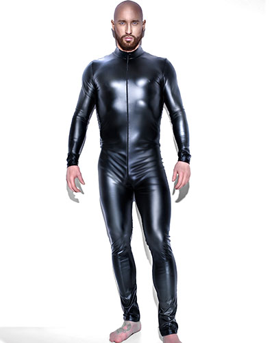 Powerwetlook Gent's Catsuit with 2-Way Zipper